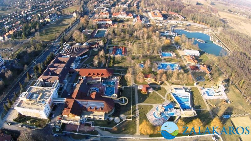Blick auf das Bad Zalakaros in Ungarn