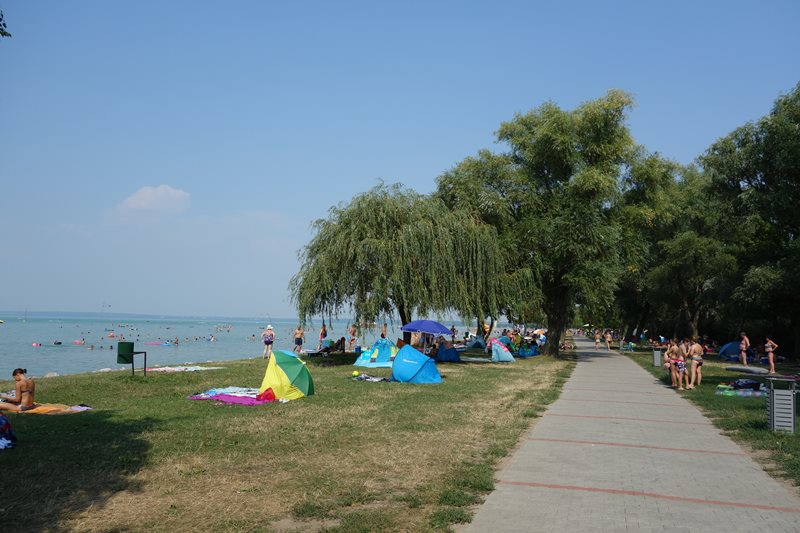 Der Strand in Siófok