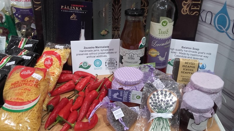 Auch Produkte aus Ungarn wurden vorgestellt.