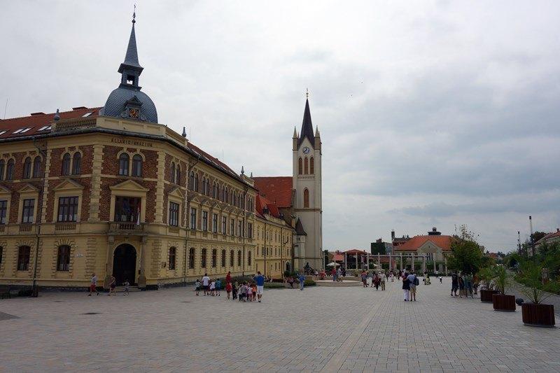 Der Fő tér in Keszthely, Foto: Sebastian Starke