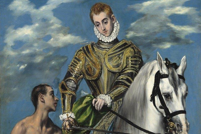 Der Heilige Martin und der Bettler, Gemälde von El Greco