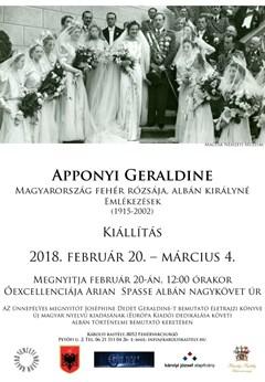 """Ausstellung """"Geraldine Gräfin Apponyi – weiße Rose von Ungarn, Königin von Albanien (1915-2002)"""""""