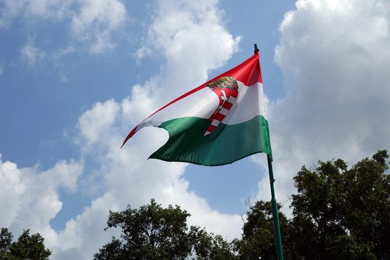 Die Nationalflagge Ungarns, Foto: Sebastian Starke