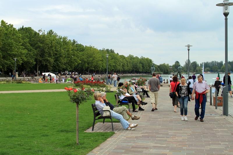 Uferpromenade in Balatonfüred, Foto: Sebastian Starke