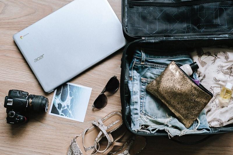 Koffer für Reise packen